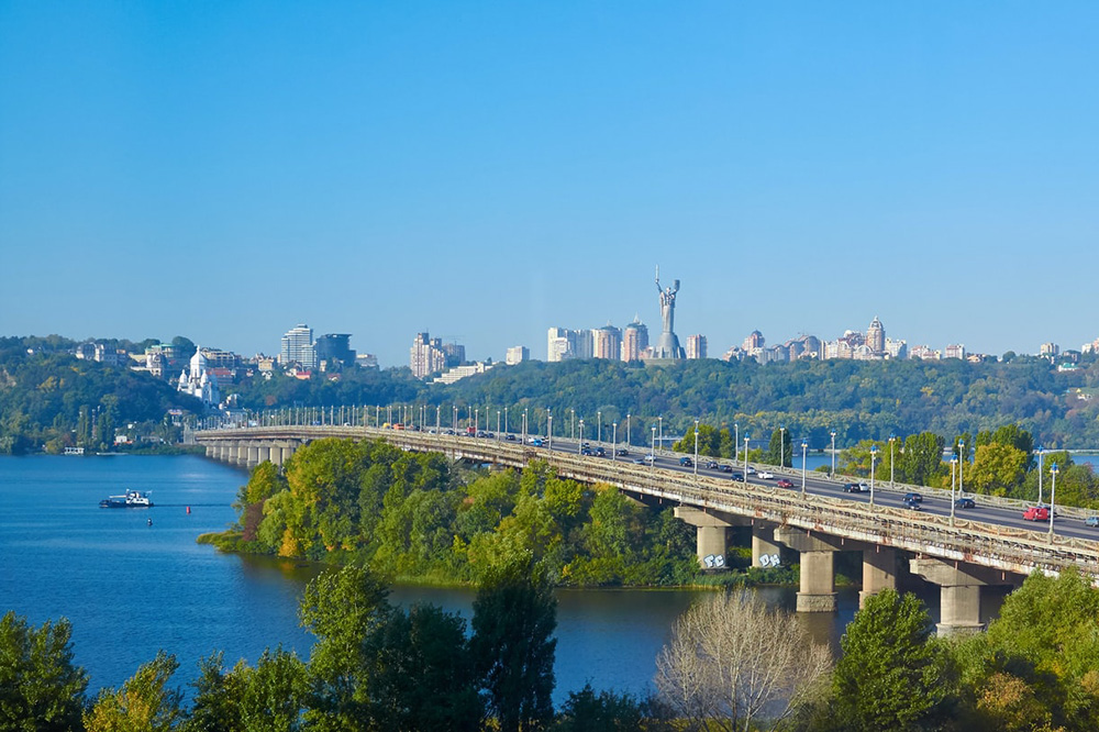 Panorama of the city of Kiev